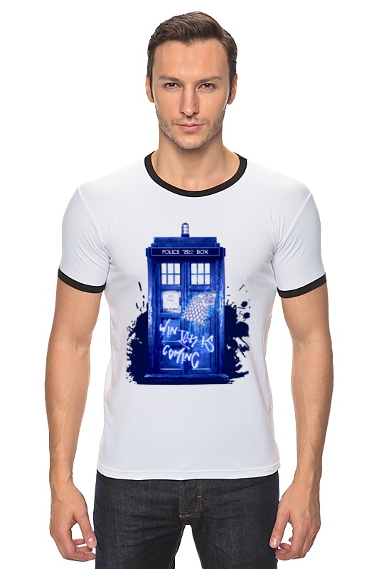 Футболка Рингер Printio Tardis is coming футболка рингер printio доктор кто doctor who