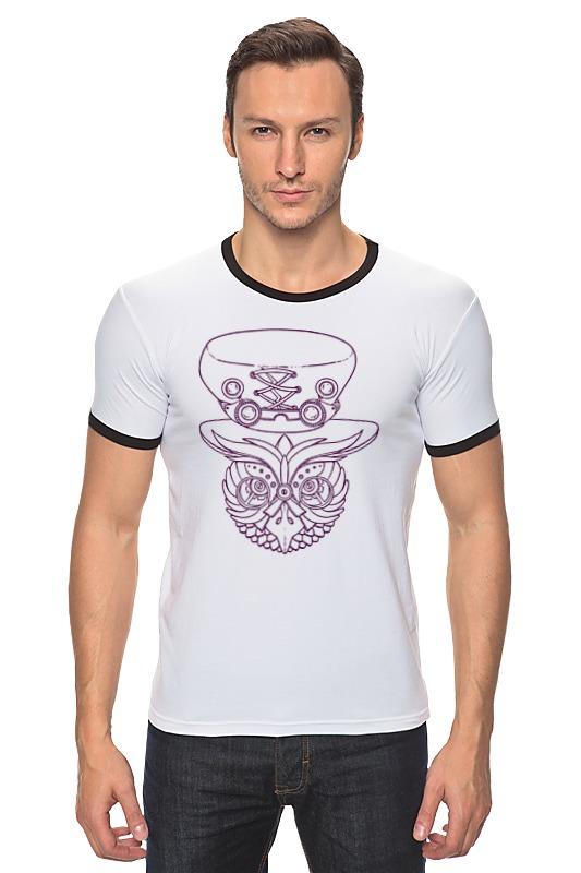 Футболка Рингер Printio Механическая сова в шляпе сатишур о механическая вентиляция легких