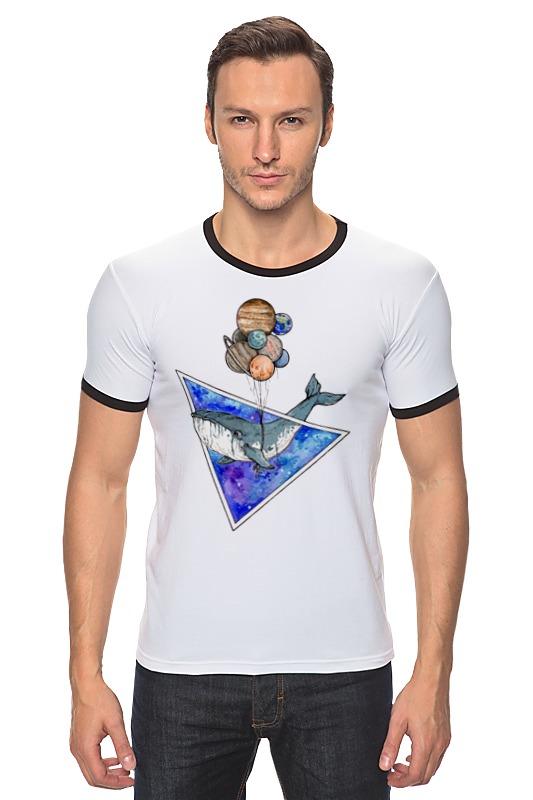 Футболка Рингер Printio Кит и планеты футболка wearcraft premium printio кит и планеты