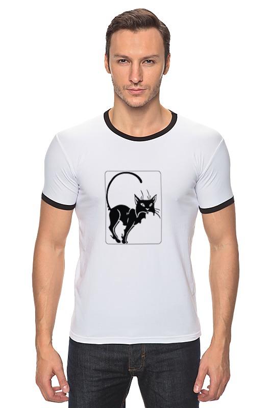 Футболка Рингер Printio Чёрный кот футболка рингер printio чёрный причёрный кот