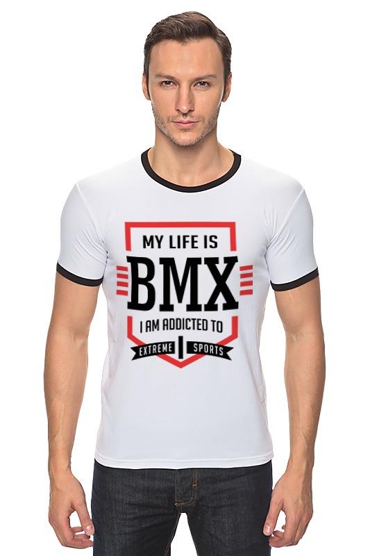 Футболка Рингер Printio Bmx - моя жизнь