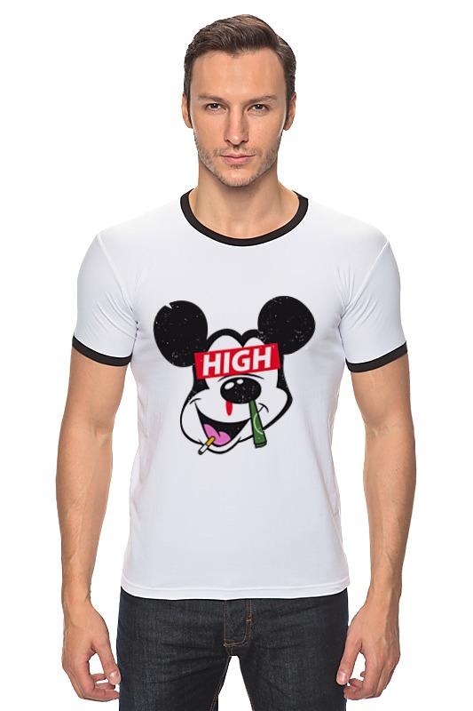 Футболка Рингер Printio Микки маус (mickey mouse) футболка рингер printio микки маус
