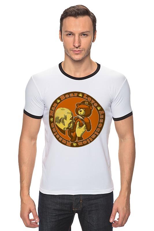 Футболка Рингер Printio Putin love russian bear футболка для беременных printio putin love russian bear