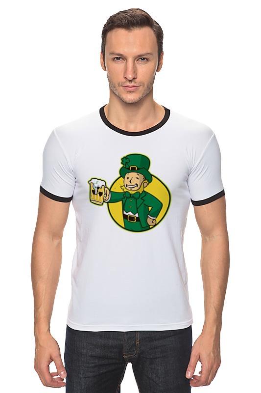 Футболка Рингер Printio Ирландец фэллаут футболка классическая printio fallout фэллаут
