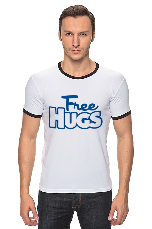 Футболка Рингер Printio Бесплатные обнимашки оборудование для кафе бесплатные объявления в алматы