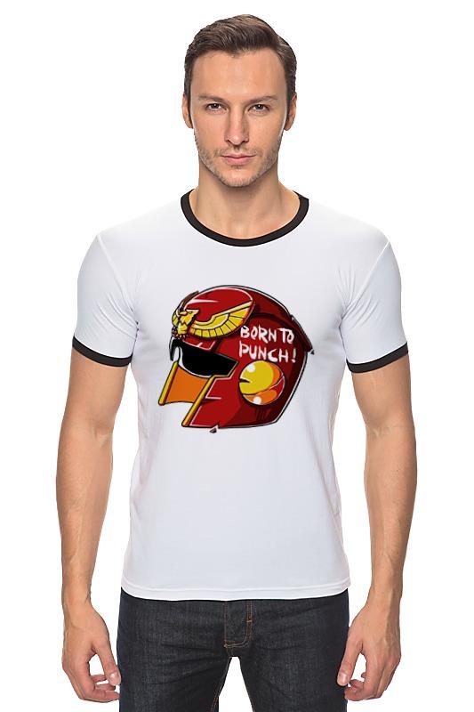 Футболка Рингер Printio Могучие рейнджеры футболка с полной запечаткой printio могучие рейнджеры power rangers