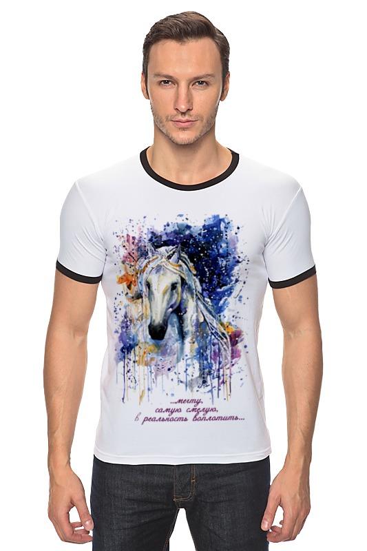 Футболка Рингер Printio Год лошади (с надписью) лошади 1000 фотографий