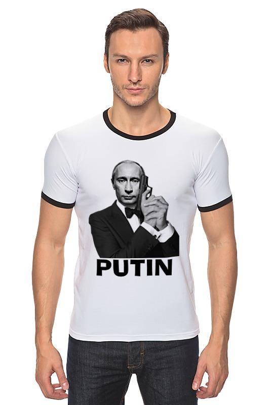 Футболка Рингер Printio Путин футболка рингер printio путин