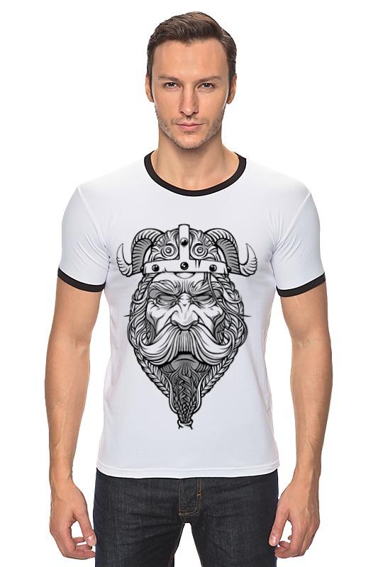 Футболка Рингер Printio Старый викинг - мудрый воин! футболка рингер printio война никогда не меняется