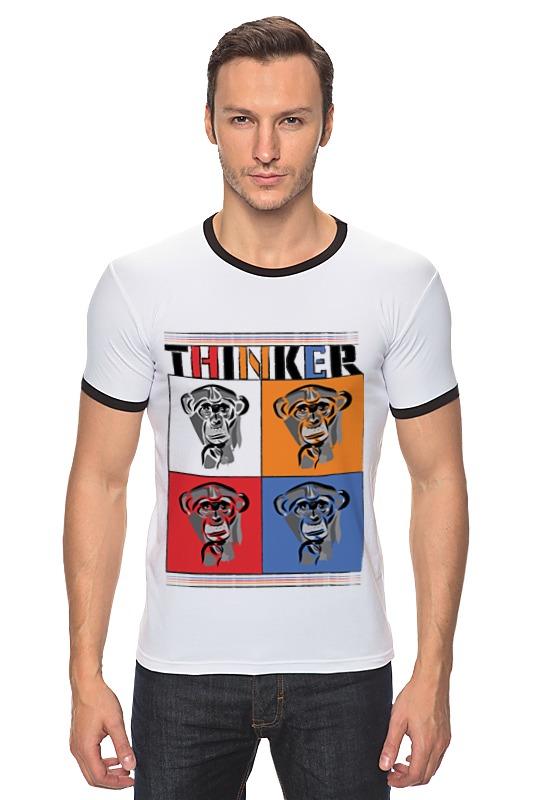 Футболка Рингер Printio Мыслитель футболка рингер printio обезьяны