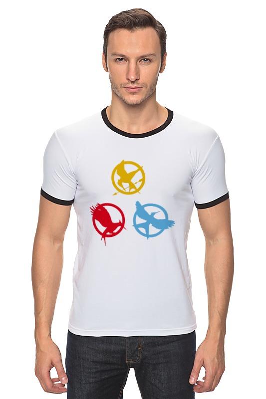 Футболка Рингер Printio Голодные игры (the hunger games) stylish the hunger games mockingbird logo necklace