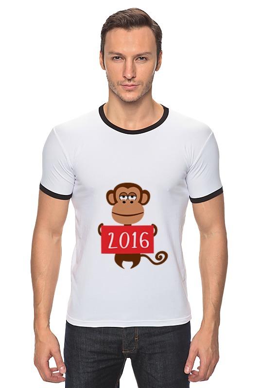 Футболка Рингер Printio Год обезьяны  2016