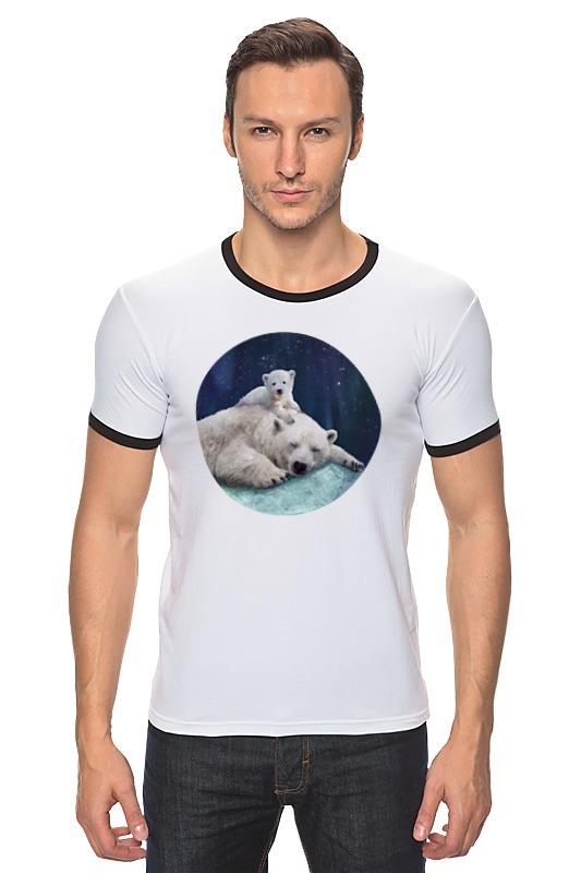 Футболка Рингер Printio Белые медведи свеча белые медведи