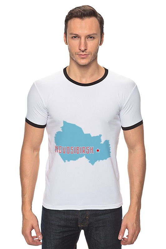 Футболка Рингер Printio Новосибирская область. новосибирск