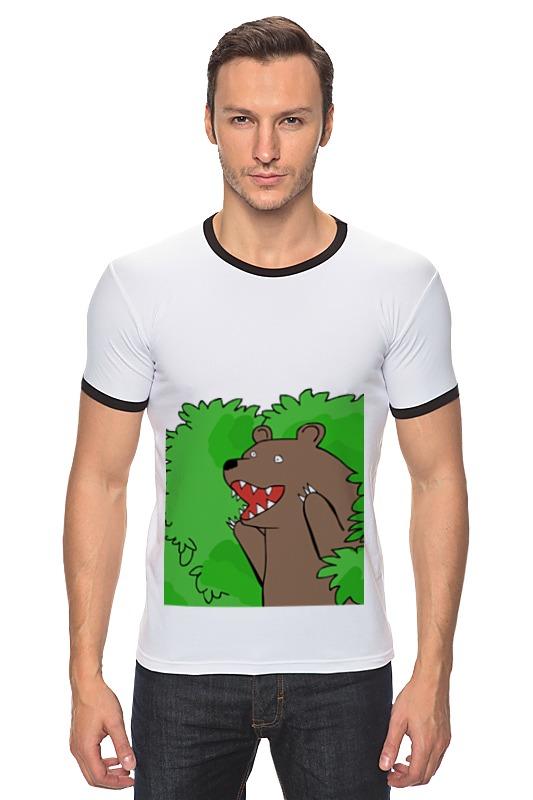 Футболка Рингер Printio Медведь из кустов андрей кустов