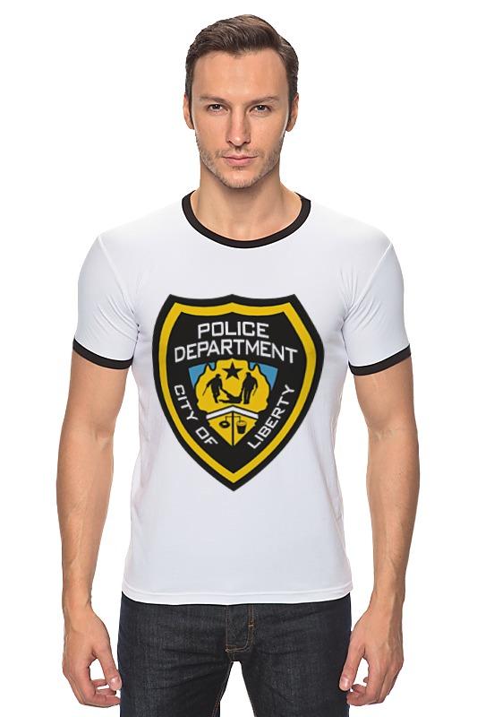 Футболка Рингер Printio Police department police pl 12921jsb 02m
