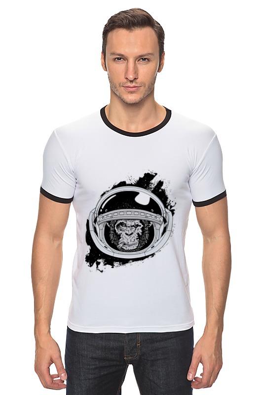 Футболка Рингер Printio Space monkey (космическая обезьяна) футболка рингер printio обезьяны