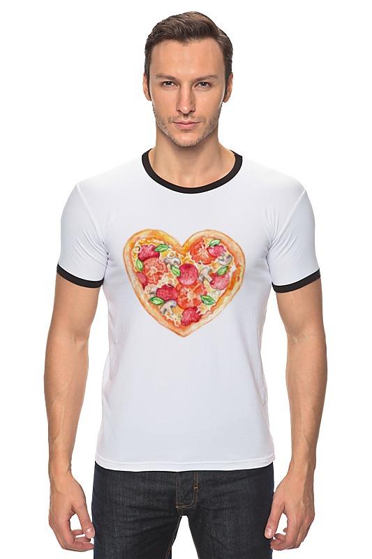 Футболка Рингер Printio Пицца это любовь магнит пицца с фруктами