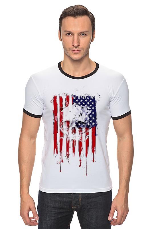 Футболка Рингер Printio Американский череп футболка рингер printio череп