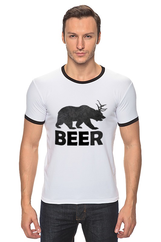 Футболка Рингер Printio Beer (bear) сумка printio beer bear