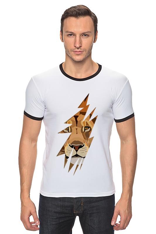 Футболка Рингер Printio Лев (lion) рубашка lion of porches l420052130 599