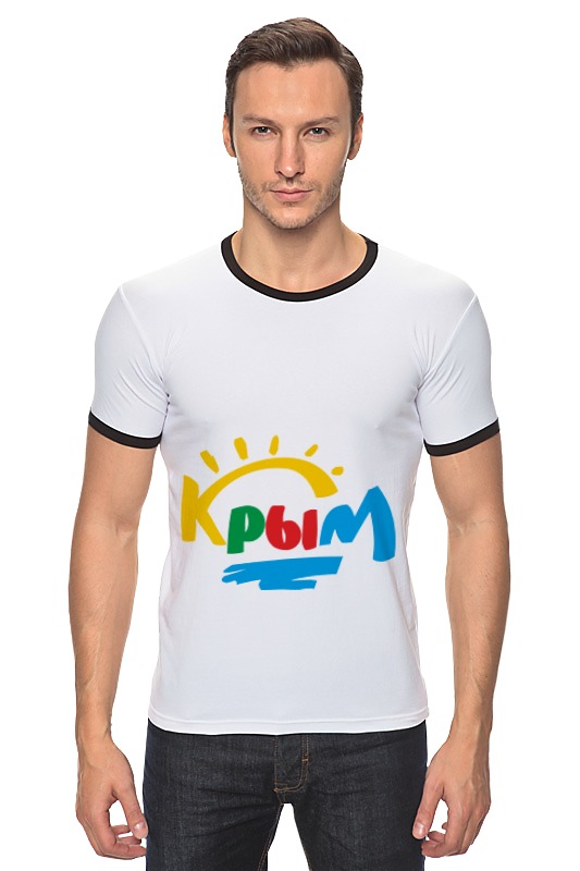 Футболка Рингер Printio Крым. россия футболка для беременных printio крым россия