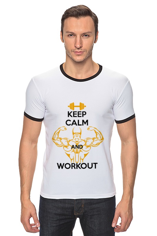Футболка Рингер Printio Keep calm and workout футболка wearcraft premium printio keep calm