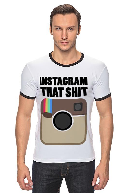 Футболка Рингер Printio Instagram instagram socialmatic camera цена