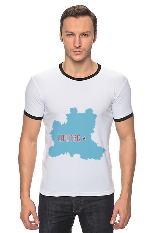 Футболка Рингер Printio Липецкая область. липецк