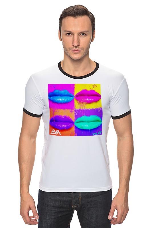 Футболка Рингер Printio Pop lips блеск для губ thebalm read my lips™ pop цвет pop variant hex name fd6743