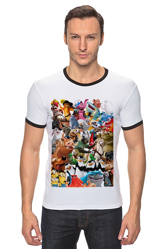 Футболка Рингер Printio Cartoons футболка рингер printio герои диснеевских мультфильмов