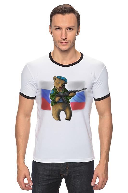 Футболка Рингер Printio Russian bear футболка для беременных printio putin love russian bear