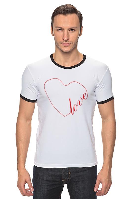 Футболка Рингер Printio Сердце (love) футболка твое футболка с длин рукавомбел 140 1сорт
