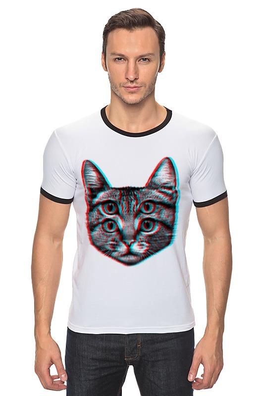 Футболка Рингер Printio Кот 3d футболка рингер printio чёрный причёрный кот