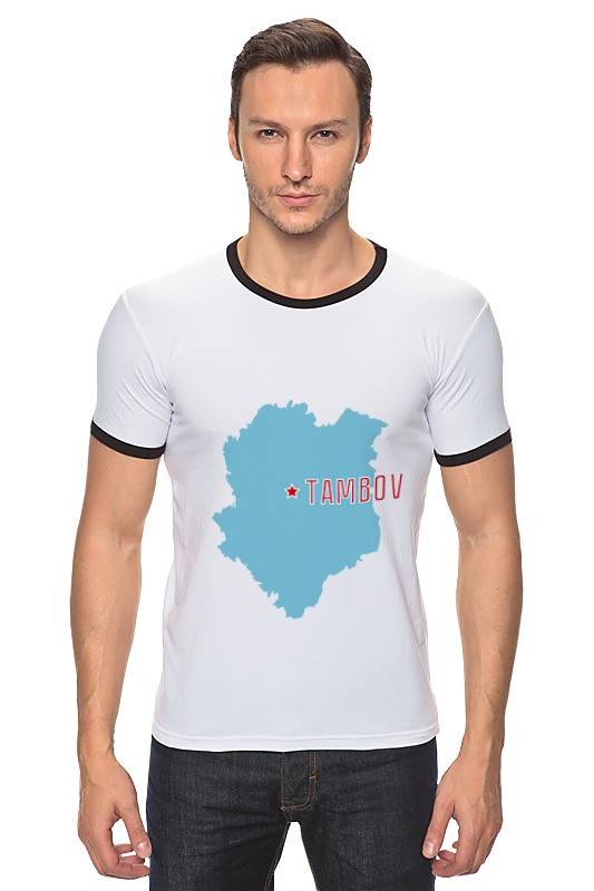 Футболка Рингер Printio Тамбовская область. тамбов