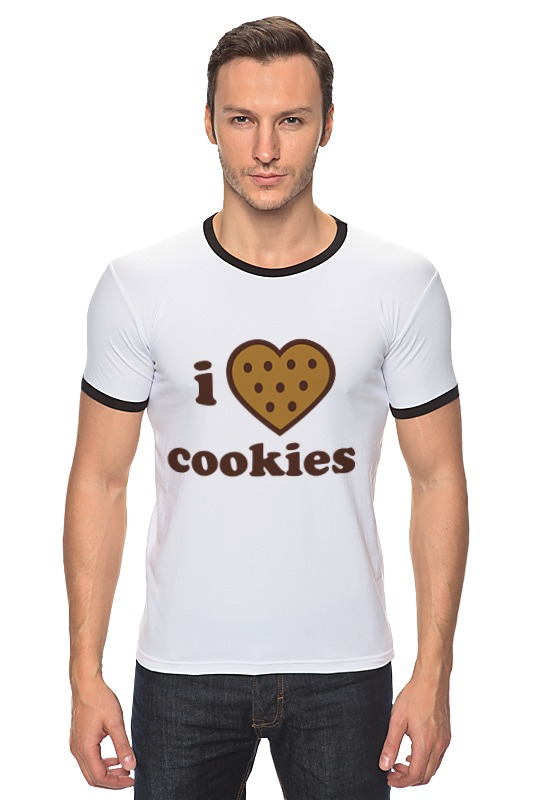 Футболка Рингер Printio i love cookies cook cooker chef made cookies mold u образные антипригарные печенья cookies cookies short form 20 1 5 8 4 1cm champagne gold wk9069