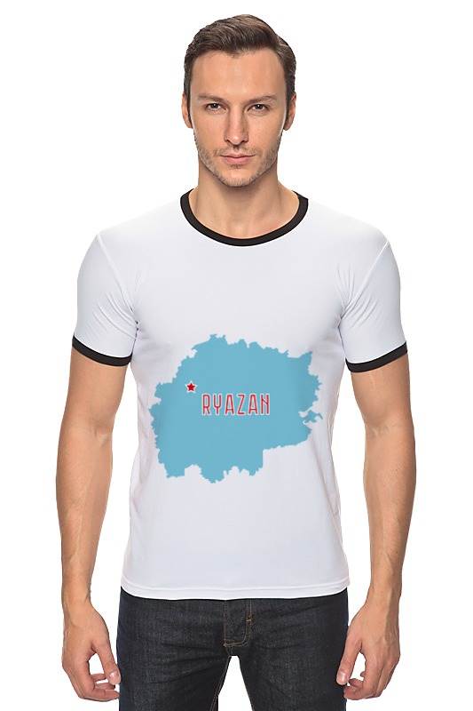 Футболка Рингер Printio Рязанская область. рязань рязань дом под снос