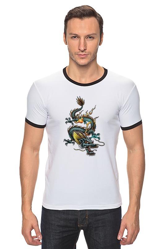 Футболка Рингер Printio Китайский дракон силикон китайский в розницу