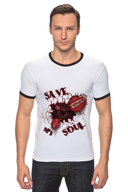 Футболка Рингер Printio Монстры. спасите мою душу. скачать песны душу дяволу продам