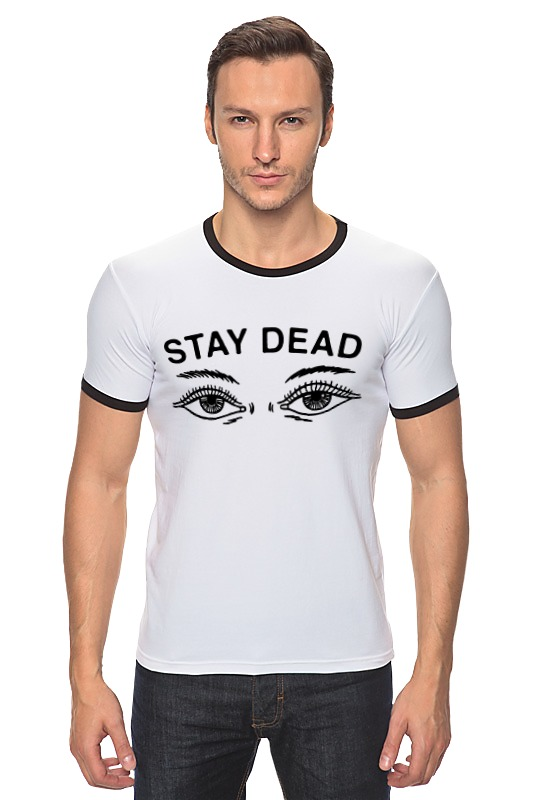 Футболка Рингер Printio Stay dead футболка для беременных printio bring me the horizon