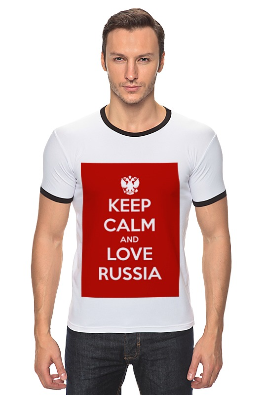 Футболка Рингер Printio Keep calm and love russia футболка wearcraft premium printio keep calm