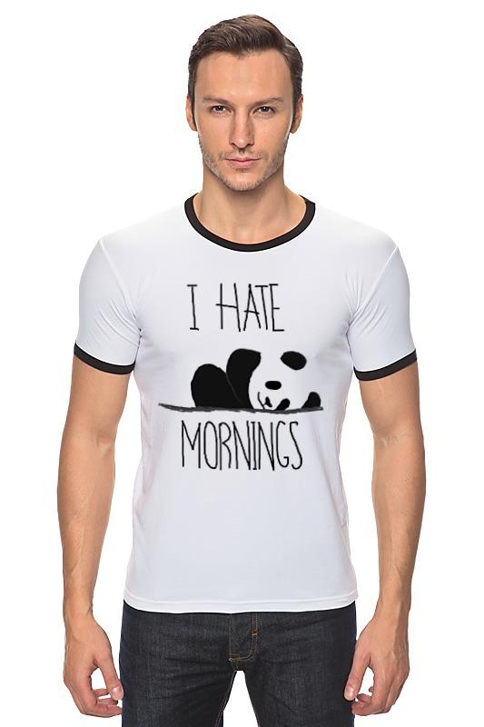 Футболка Рингер Printio Я ненавижу утро