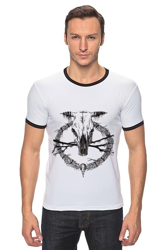 Футболка Рингер Printio Occult skull / оккультный череп футболка стрэйч printio occult skull оккультный череп