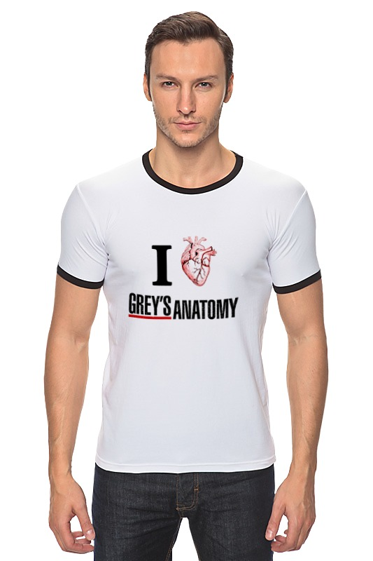 Футболка Рингер Printio Люблю greys anatomy greys qe 005
