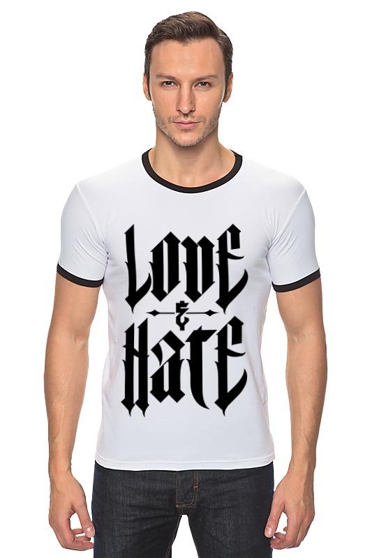 Футболка Рингер Printio От любви до ненависти от ненависти до любви