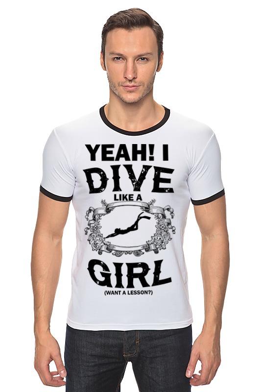 Футболка Рингер Printio Dive like a girl футболка рингер printio tatoo girl