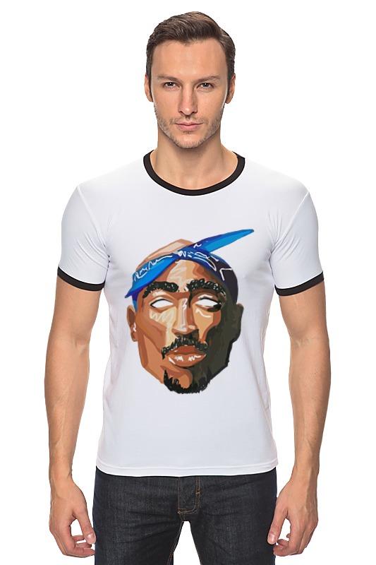 Футболка Рингер Printio Тупак (2pac) футболка wearcraft premium printio 2pac tupac