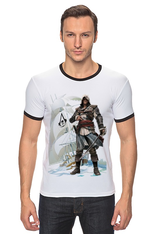 Футболка Рингер Printio Assassin's creed iv black flag византийская армия iv xiiвв