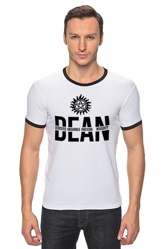 Футболка Рингер Printio Дин винчестер (supernatural) футболка wearcraft premium slim fit printio винчестер supernatural