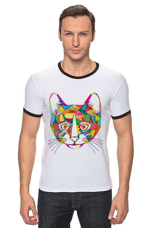 Футболка Рингер Printio Кот (cat) футболка рингер printio чёрный причёрный кот